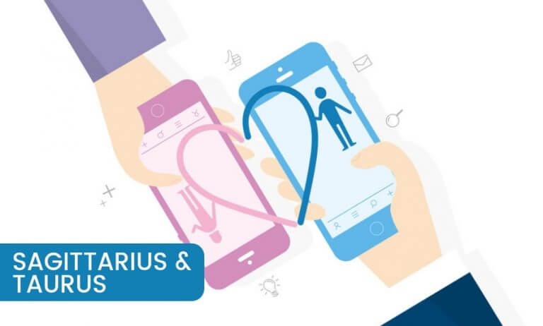 Sagittarius and Taurus