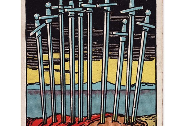 10 of swords Rider Waite tarot
