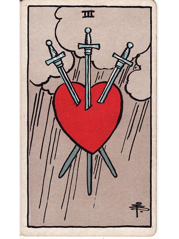 3 of swords Rider Waite tarot