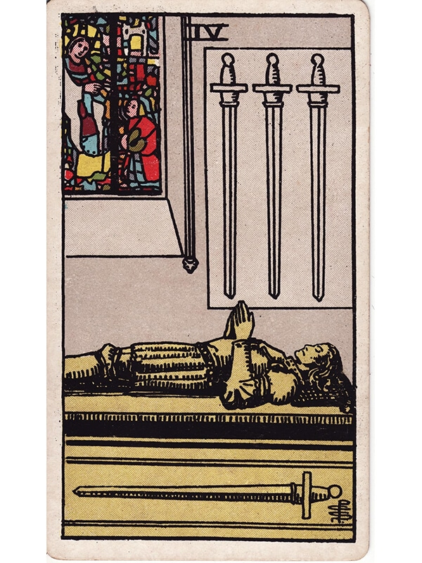 4 of swords Rider Waite tarot