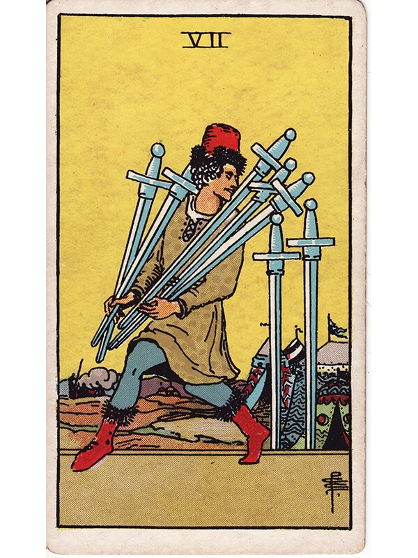 7 of swords Rider Waite tarot