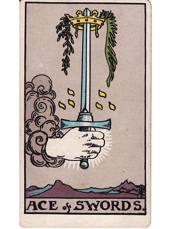 Ace of swords Rider Waite tarot
