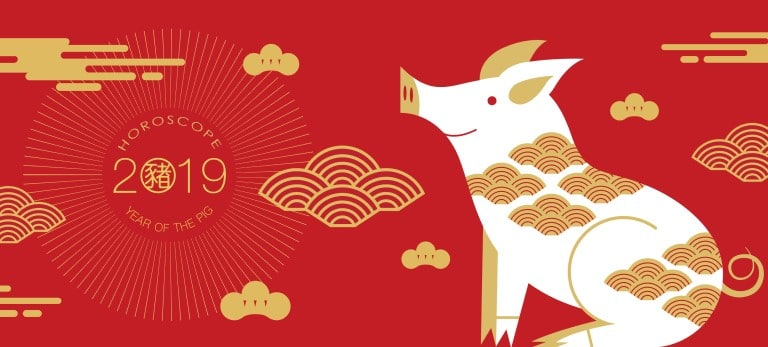 ce959494c The Chinese New Year begins this year on February 5th, 2019 and ends on  January 27th, 2020. This is the year of the Pig, which is generally a sign  of wealth ...