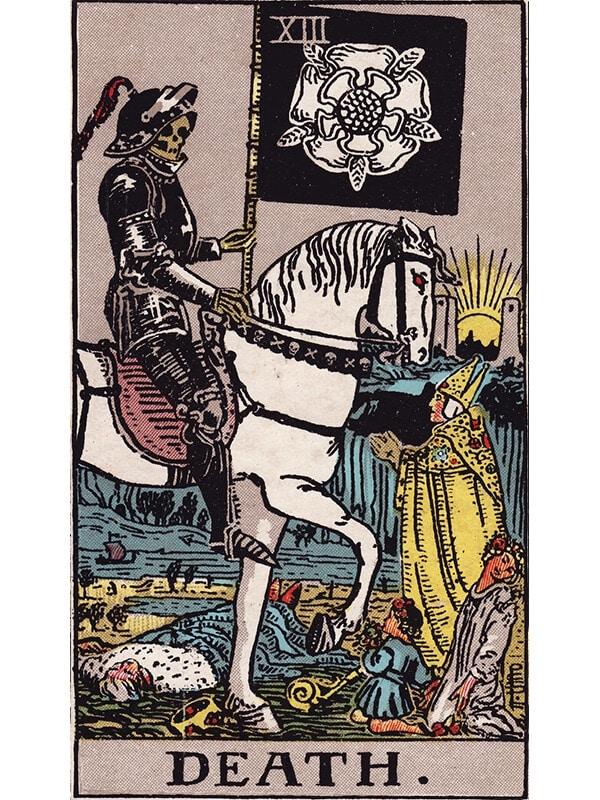 Death tarot card Rider-Waite