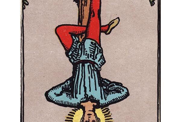 The Hanged Man tarot card Rider-Waite
