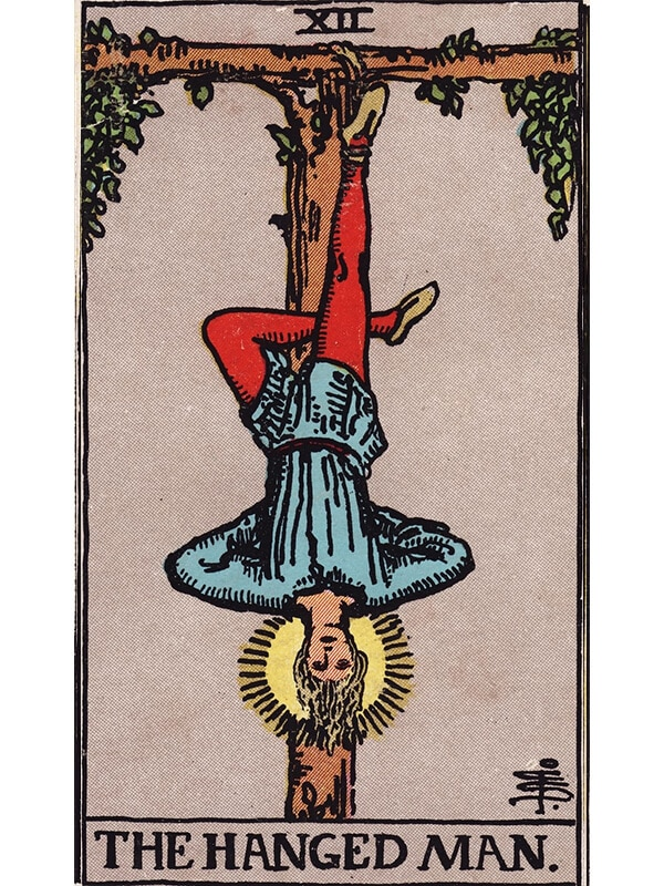 The Hanged Man tarot card Rider-Waite