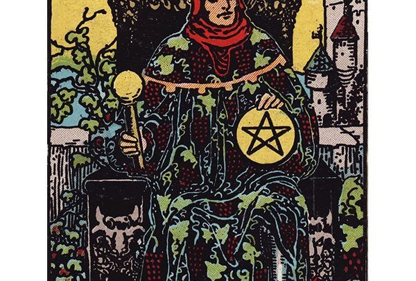 King of pentacles Rider Waite tarot