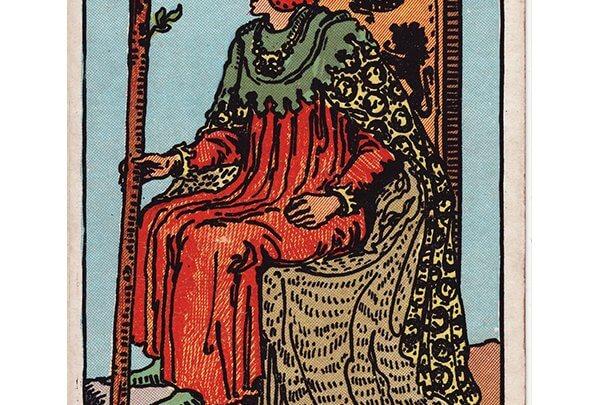 King of wands Rider Waite tarot