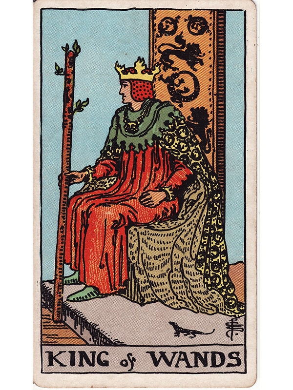 King of wands Rider Waite tarot
