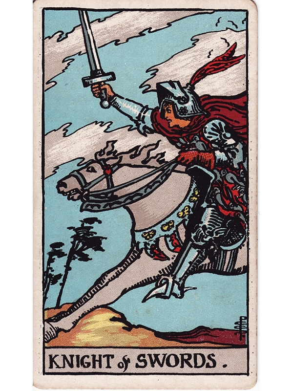 Knight of swords Rider Waite tarot