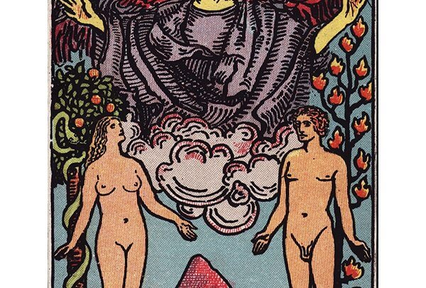 The Lovers tarot card Rider-Waite