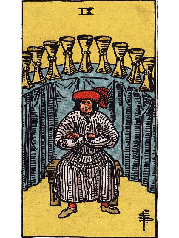9 of cups Rider Waite tarot