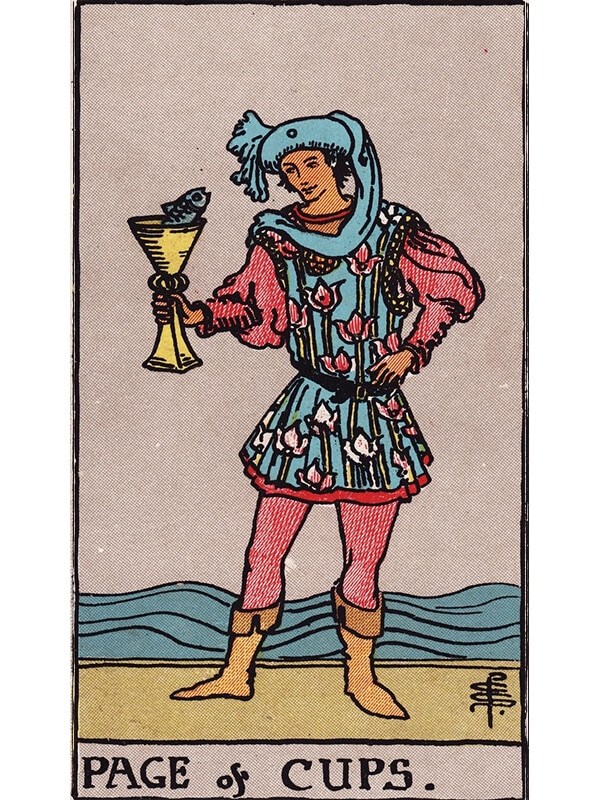 Page of cups Rider Waite tarot