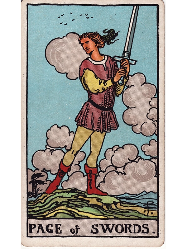 Page of swords Rider Waite tarot