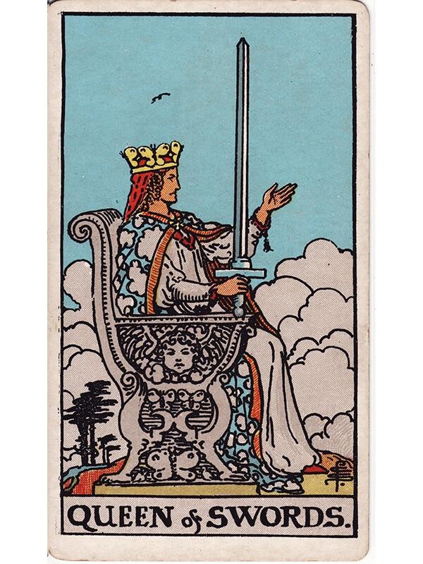 Queen of swords Rider Waite tarot