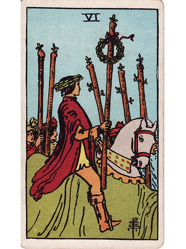 6 of wands Rider Waite tarot