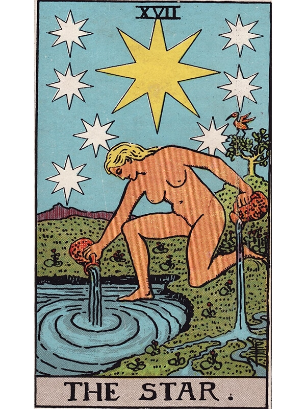 The Star tarot card Rider-Waite
