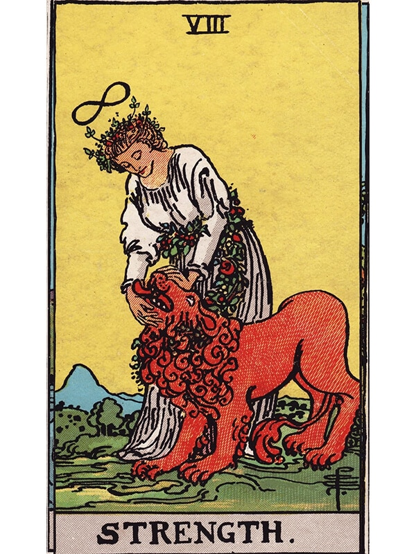 Strength card Rider-Waite Tarot