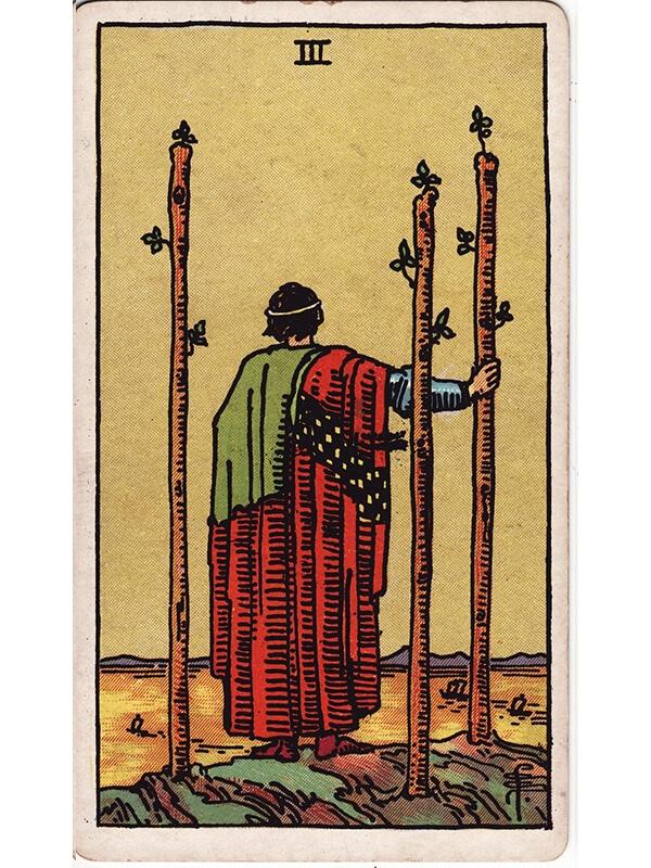3 of wands Rider Waite tarot