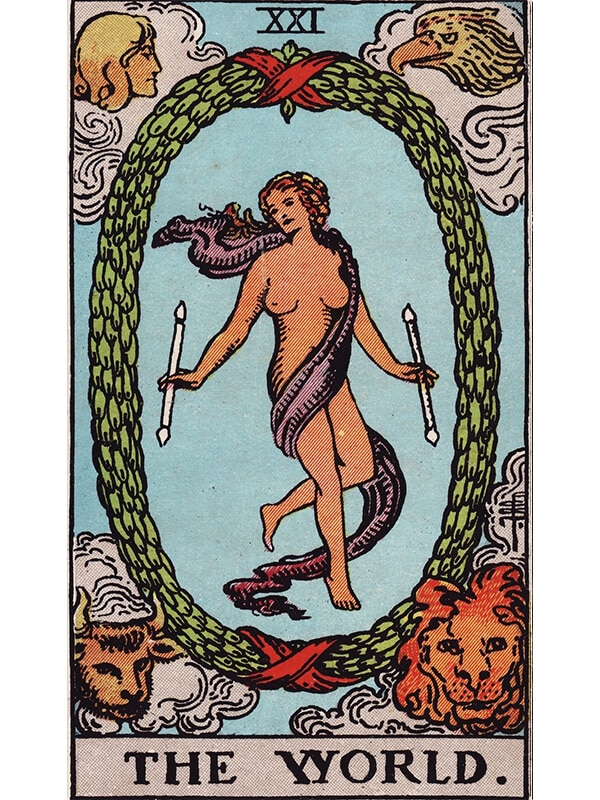 The World tarot card Rider-Waite
