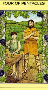 4 of Pentacles Mythic Tarot card