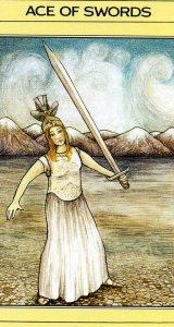 Ace of Swords Mythic Tarot card