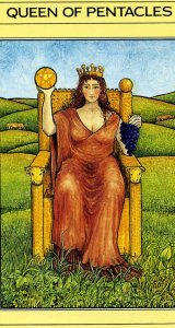 Queen of Pentacles Mythic Tarot card