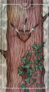 Ostara Tarot 3 of Swords
