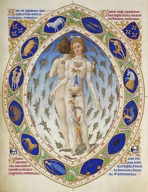 Astrological-Anatomical Man from Les Tress Riches Heures du duc de Berry