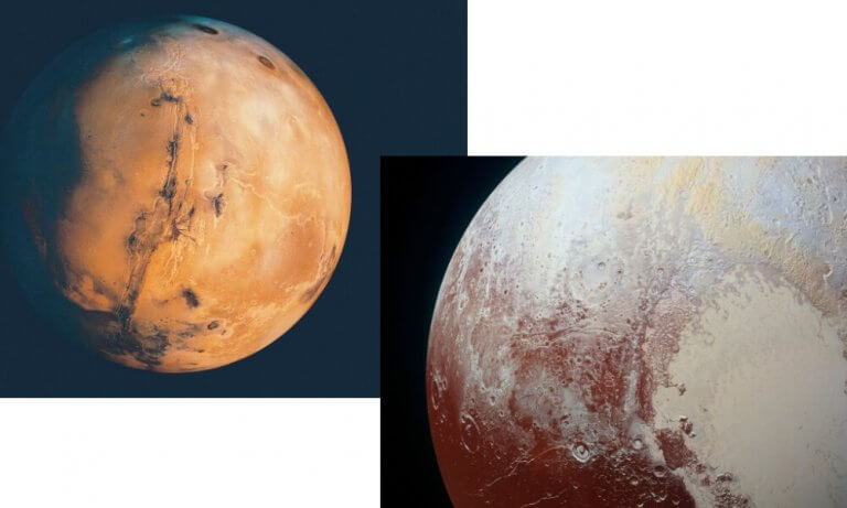 Mars Opposes Pluto