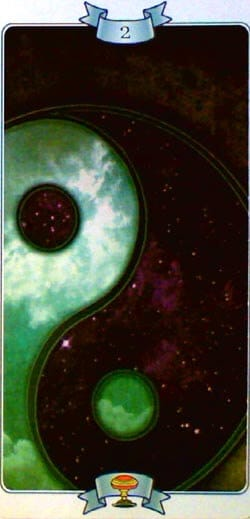Law of Attraction tarot 2 of Cups