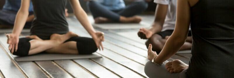 sitting down yoga