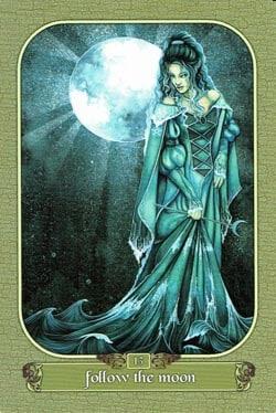 Follow The Moon tarot card