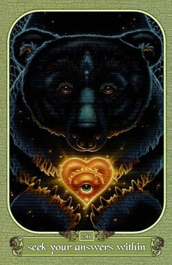 Seek Your Answers Within tarot card