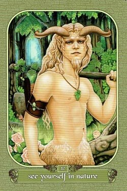 See Yourself In Nature tarot card