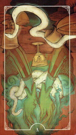 Ostara Tarot 5 of Cups reversed