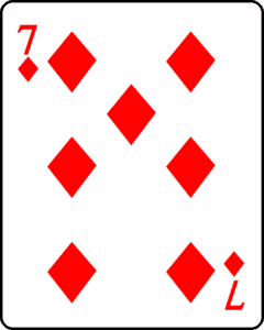 7 of diamonds card
