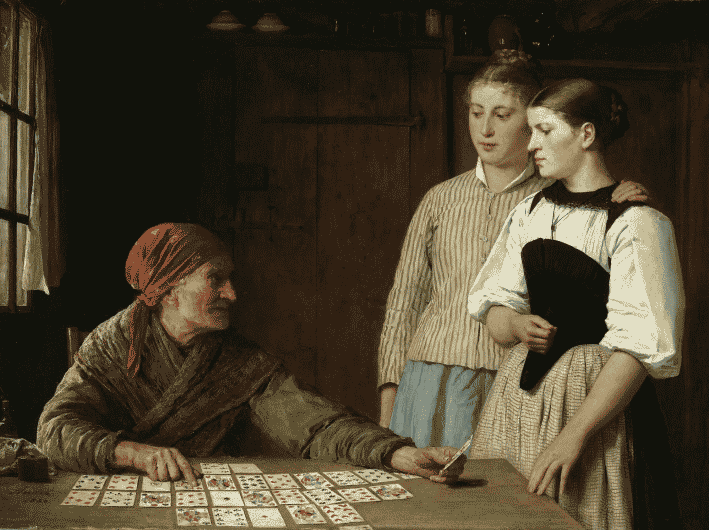 Albert Anker the Fortune Teller