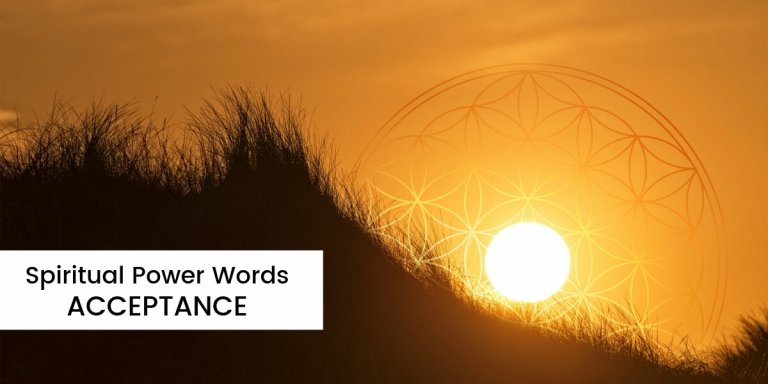 Spiritual Power Words Acceptance