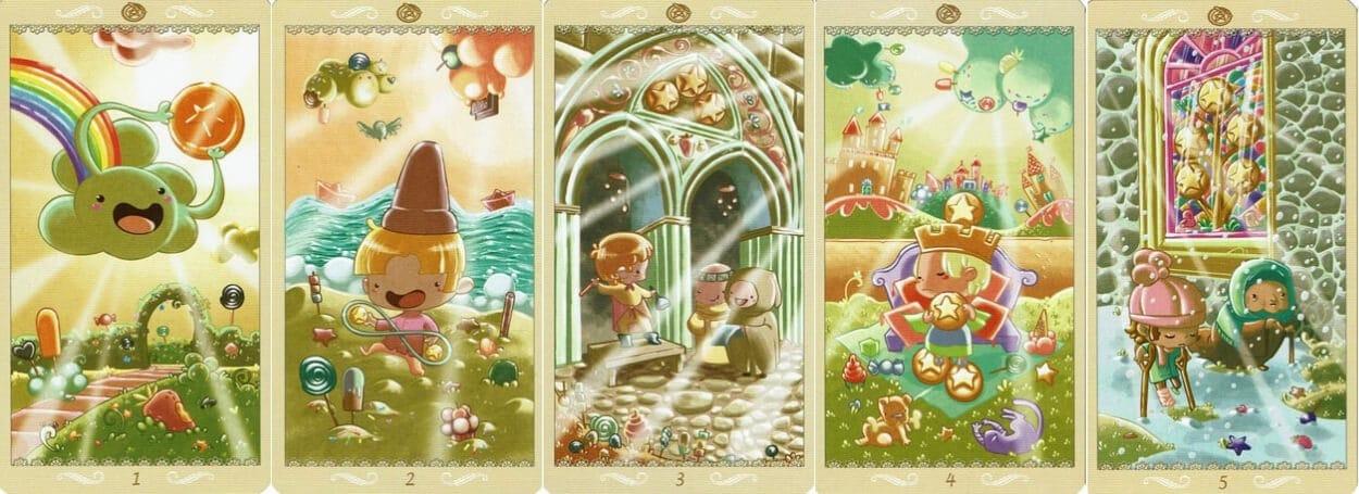 Happy Tarot Pentacles 1