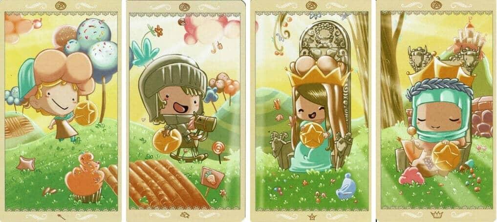 Happy Tarot Pentacles 3