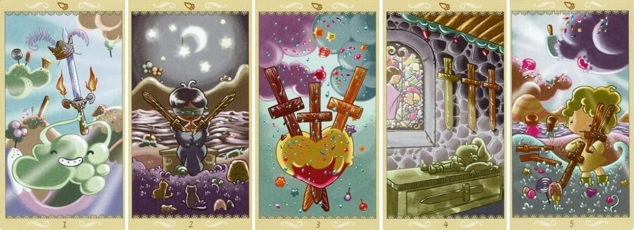 Happy Tarot Swords 1