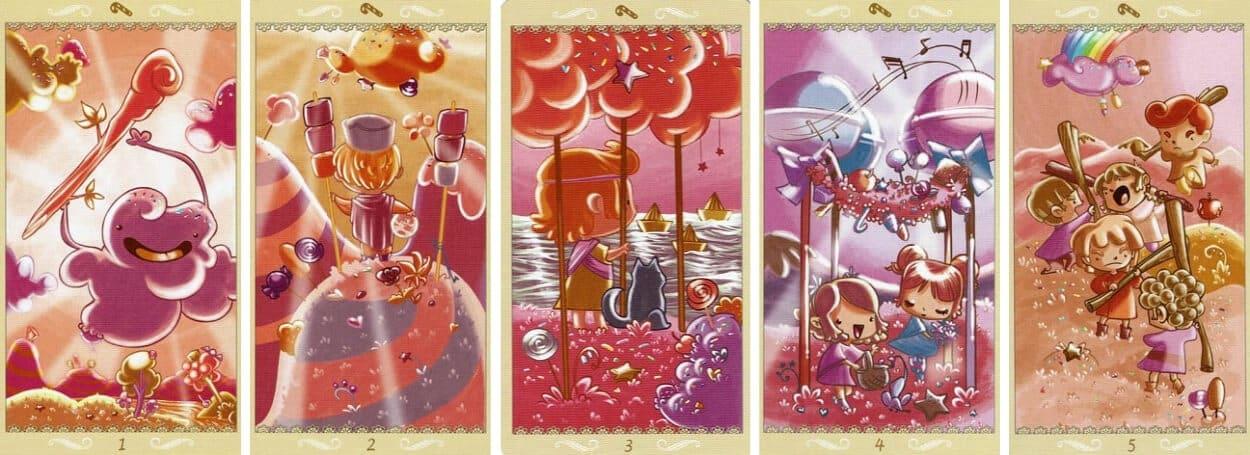Happy Tarot Wands 1