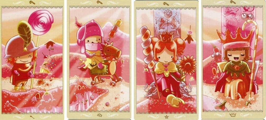 Happy Tarot Wands 3