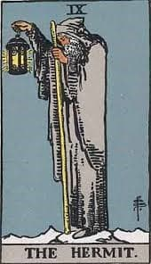 The hermit tarot card