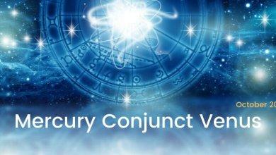 Mercury Conjunct Venus October 2019