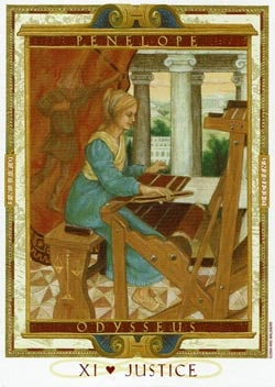 Justice tarot card