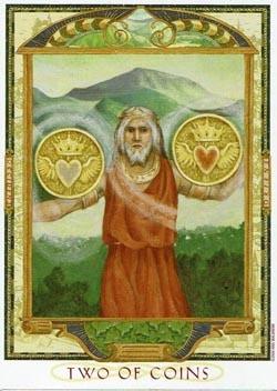 2 of Coins tarot card