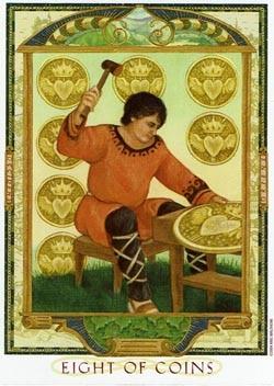 8 of Coins tarot card
