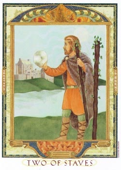 2 of Staves tarot card